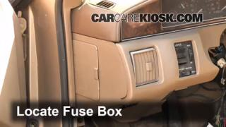 Interior Fuse Box Location: 2000-2005 Cadillac DeVille