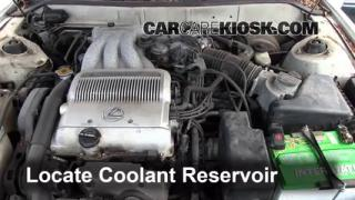 Coolant Level Check: 1992-1996 Camry