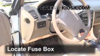 Interior Fuse Box Location: 1992-1996 Toyota Camry