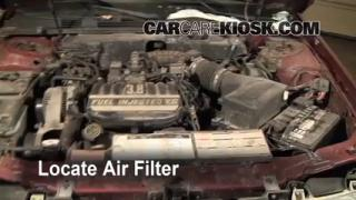 1996-1999 Ford Taurus Engine Air Filter Check