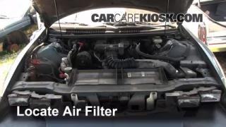 1993-2002 Chevrolet Camaro Engine Air Filter Check