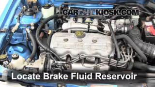 Add Brake Fluid: 1991-1996 Ford Escort