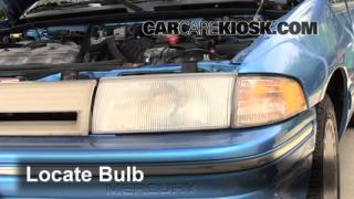 Highbeam (Brights) Change: 1991-1996 Ford Escort
