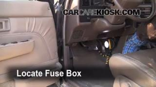 Interior Fuse Box Location: 1990-1995 Toyota 4Runner