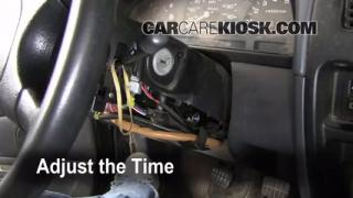 How to Set the Clock on a Nissan Pathfinder (1996-2000)