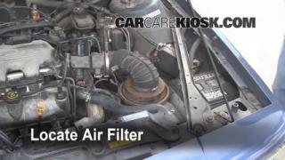 1990-1996 Oldsmobile Cutlass Ciera Engine Air Filter Check