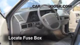 Interior Fuse Box Location: 1990-1996 Oldsmobile Cutlass Ciera