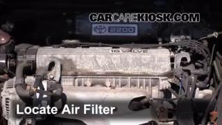 1992-1996 Toyota Camry Engine Air Filter Check