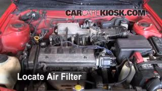 1995-1998 Toyota Tercel Engine Air Filter Check