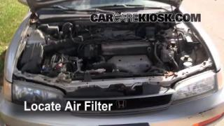 1990-1993 Honda Accord Engine Air Filter Check