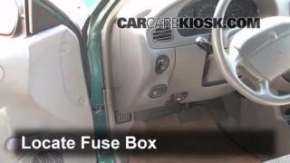 1997-2003 Ford Escort Interior Fuse Check
