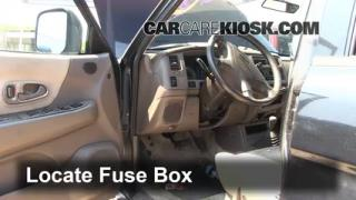 Interior Fuse Box Location: 1997-2004 Mitsubishi Montero Sport