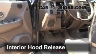 Open Hood How To 1997-2004 Mitsubishi Montero Sport
