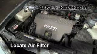 1992-1998 Buick Skylark Engine Air Filter Check