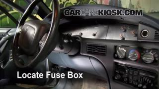 Interior Fuse Box Location: 1992-1998 Buick Skylark