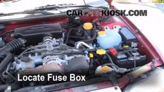Blown Fuse Check 1995-1999 Subaru Legacy