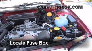 Replace a Fuse: 1995-1999 Subaru Legacy