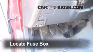 Interior Fuse Box Location: 1995-1999 Subaru Legacy