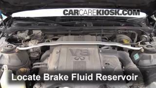 2002-2006 Infiniti Q45 Brake Fluid Level Check