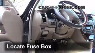 Interior Fuse Box Location: 2002-2006 Infiniti Q45