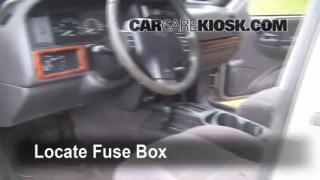 1993-1998 Jeep Grand Cherokee Interior Fuse Check