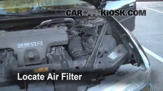 1998-2002 Oldsmobile Intrigue Engine Air Filter Check