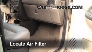 1997-2005 Pontiac Montana Cabin Air Filter Check