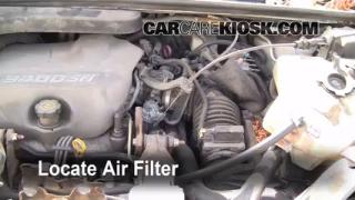 1997-2005 Pontiac Montana Engine Air Filter Check