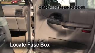 Interior Fuse Box Location: 1997-2005 Pontiac Montana
