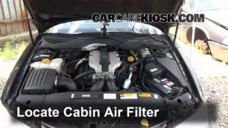 1997-2001 Cadillac Catera Cabin Air Filter Check
