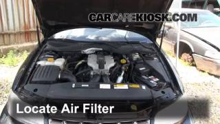 1997-2001 Cadillac Catera Engine Air Filter Check