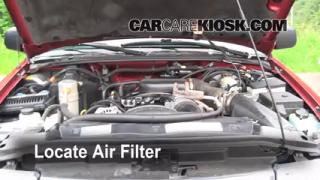 1998-2001 Oldsmobile Bravada Engine Air Filter Check