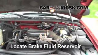 1998-2001 Oldsmobile Bravada Brake Fluid Level Check