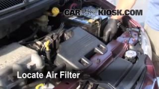 1996-2000 Dodge Caravan Engine Air Filter Check