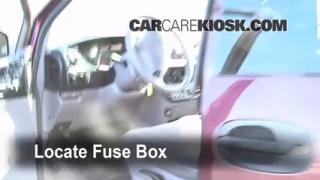 Interior Fuse Box Location: 1996-2000 Dodge Caravan