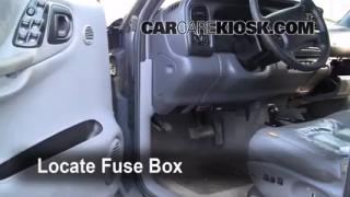 Interior Fuse Box Location: 1998-2003 Dodge Durango