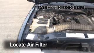 1993-1997 Ford Ranger Engine Air Filter Check