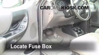 Interior Fuse Box Location: 1993-1997 Ford Ranger