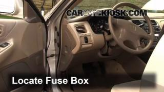 Interior Fuse Box Location: 1998-2002 Honda Accord