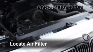 1992-2011 Mercury Grand Marquis Engine Air Filter Check