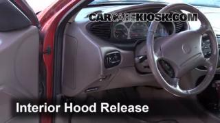 Open Hood How To 1996-1999 Ford Taurus