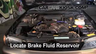 1993-2001 Subaru Impreza Brake Fluid Level Check