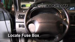 Interior Fuse Box Location: 1993-2001 Subaru Impreza