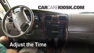 How to Set the Clock on a Toyota 4Runner (1996-2002)