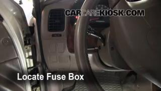 Interior Fuse Box Location: 1996-2002 Toyota 4Runner
