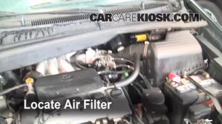 1998-2003 Toyota Sienna Engine Air Filter Check