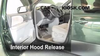 Open Hood How To 1998-2003 Toyota Sienna