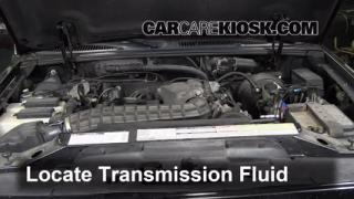 Check coolant level on 2007 volvo xc90 transmission dipstick