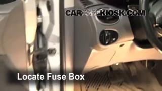 Interior Fuse Box Location: 2000-2004 Ford Focus