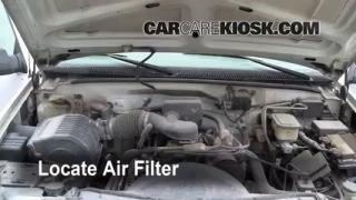 1990-2000 GMC C3500 Engine Air Filter Check